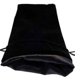 Metallic Dice Games Black Velvet Dice Bag with Black Satin