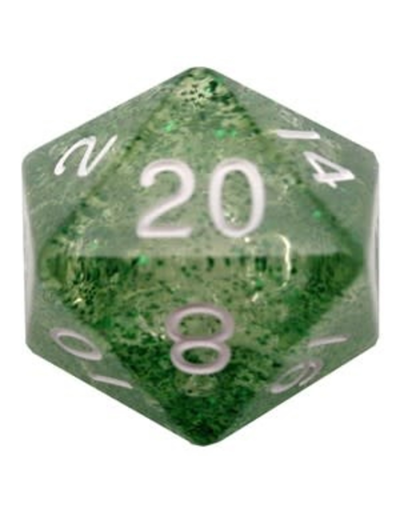 Metallic Dice Games Ethereal Green 35mm Mega Acrylic d20