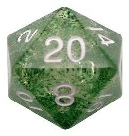 Metallic Dice Games Ethereal Green 35mm Mega Acrylic d20