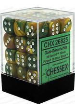 Chessex Gemini Gold-Green/white 12mm d6 Dice Block