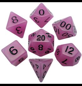Metallic Dice Games 16mm Polyhedral Dice Set Glow Purple