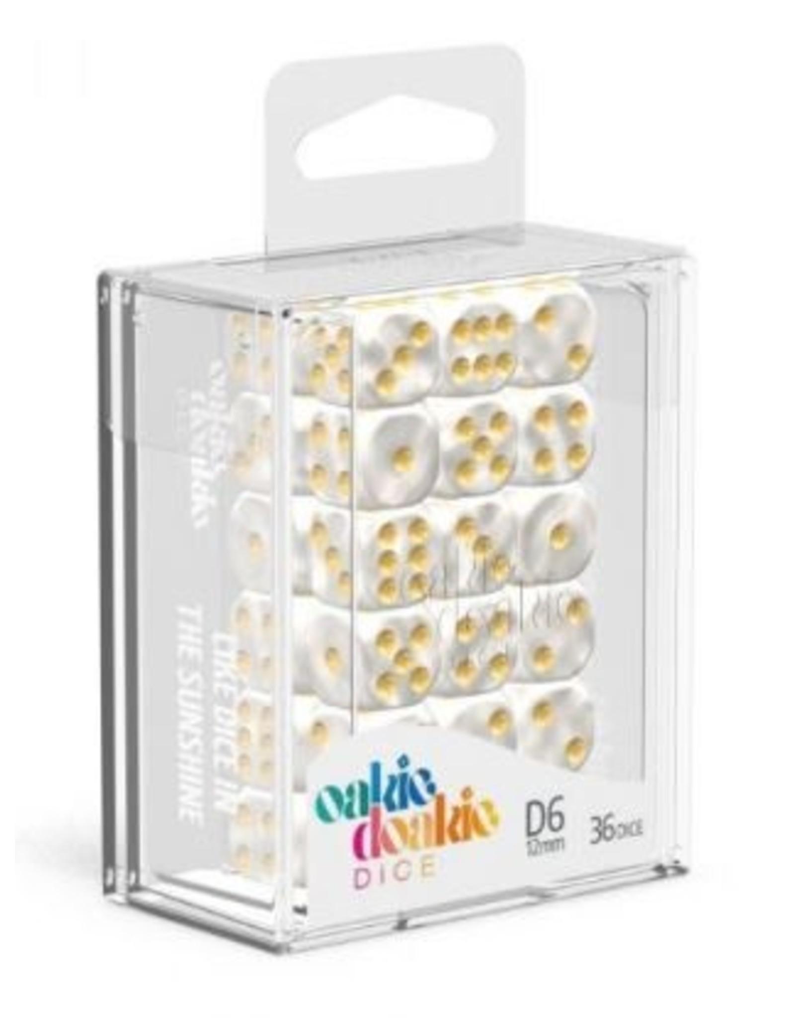 Oakie Doakie Dice D6 12mm Marble White