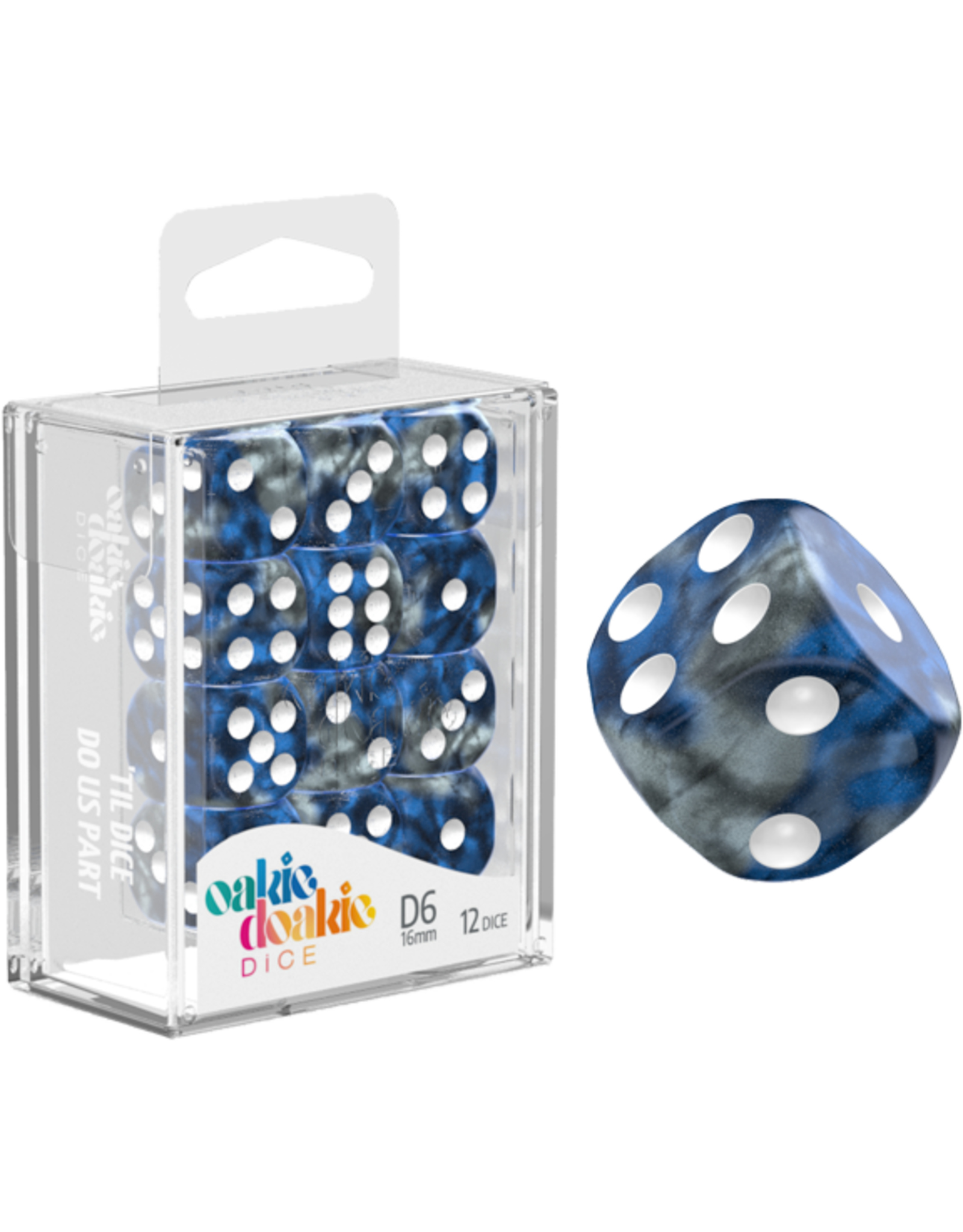 Oakie Doakie Dice D6 16mm Gemi Liquid Steel