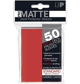 Ultra Pro Pro-Matte Deck Protectors Standard Red 50