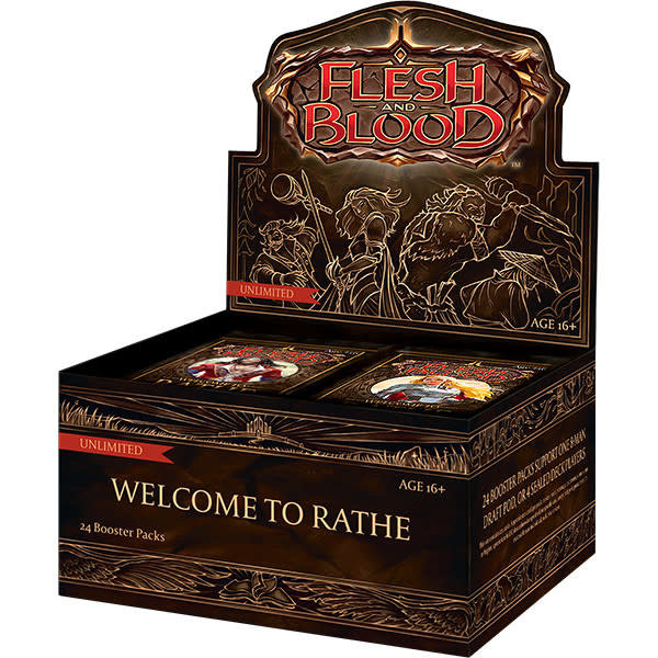 Legend Story Studios Flesh and Blood TCG Welcome to Rathe Unlimited Booster Display