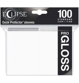 Ultra Pro Eclipse Gloss Standard Sleeves Arctic White