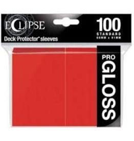 Ultra Pro Eclipse Gloss Standard Sleeves Apple Red