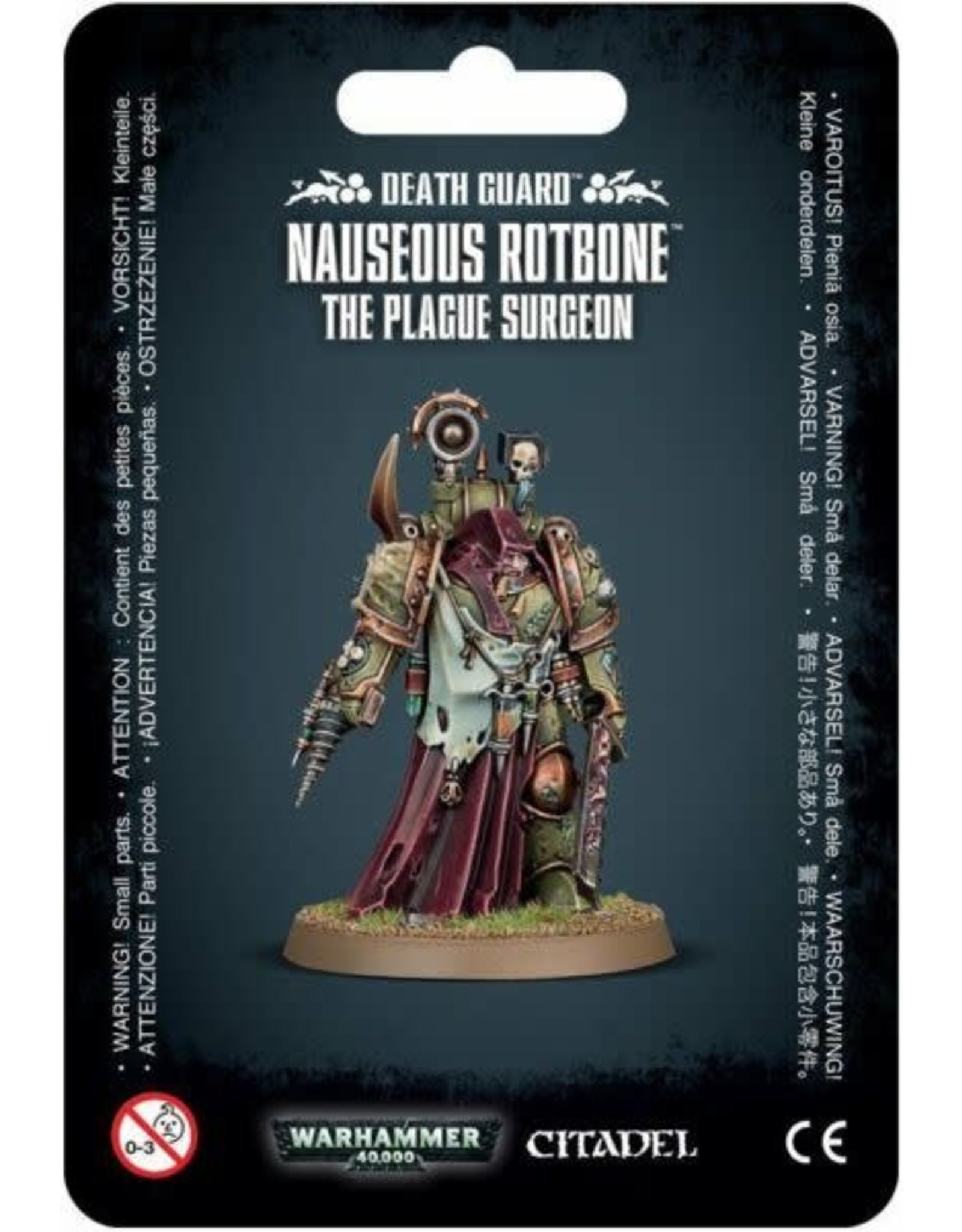 Warhammer 40,000 Death Guard: Nauseous Rotbone the Plague Surgeon