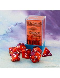 Chessex Gemini Orange-Purple/white Polyhedral 7-Die Set