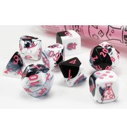 Chessex Lab Dice Gemini Black-White/pink Polyhedral 7-Die Set
