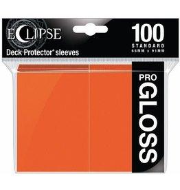 Ultra Pro Eclipse Gloss Standard Sleeves Pumpkin Orange