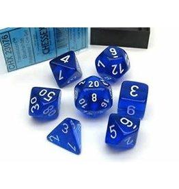 Chessex Translucent Blue/white Polyhedral 7-Die Set