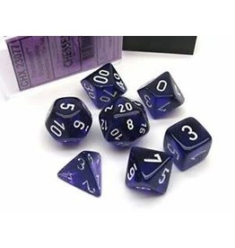Chessex Translucent Purple/white Polyhedral 7-Die Set