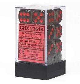 Chessex Translucent Smoke/red 16mm d6 Dice Block