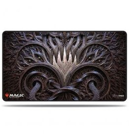 Ultra Pro Kaldheim Stitched Playmat featuring Stylized Planeswalker Symbol