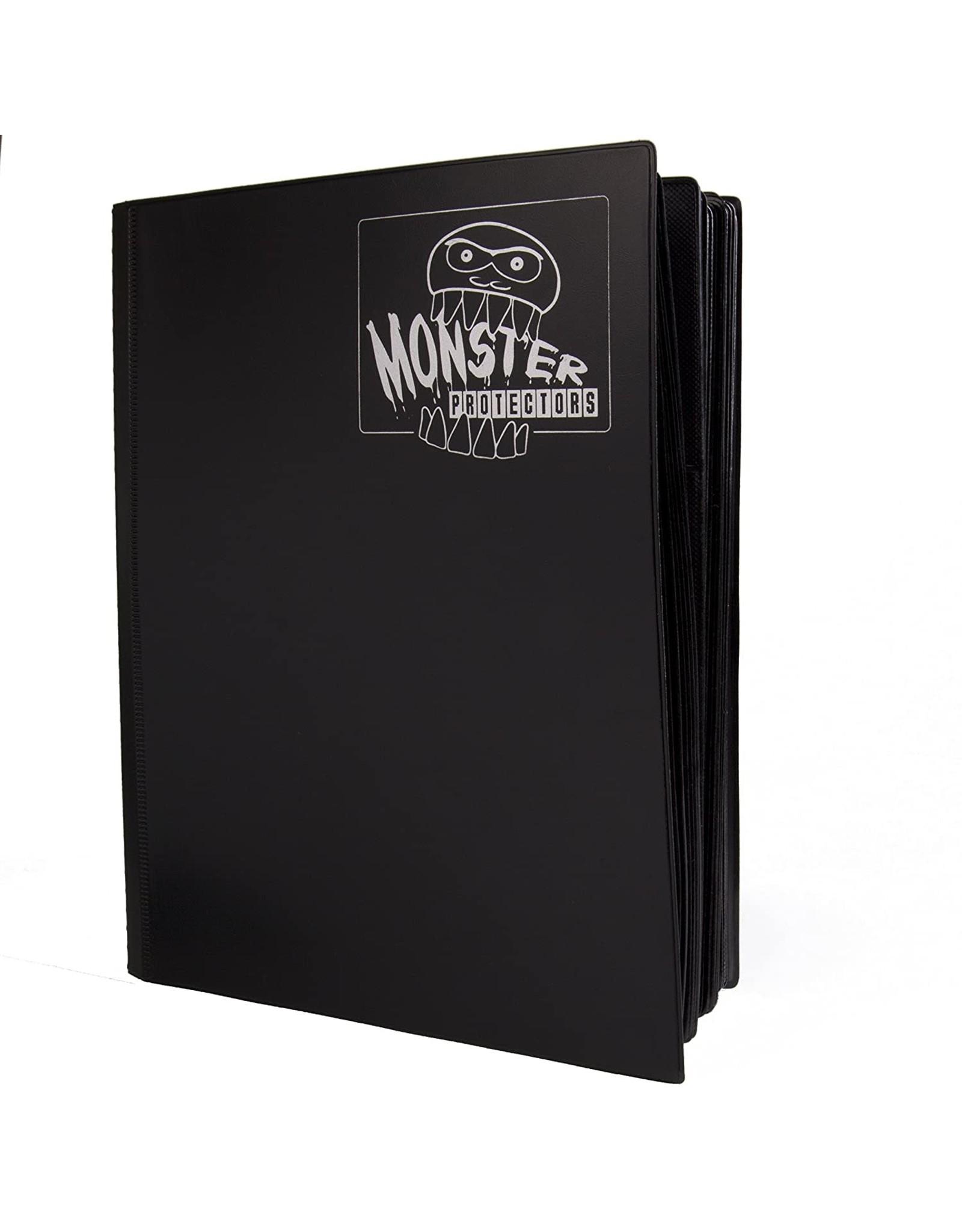 Monster Binder 4 Pocket Matte Black Card Binder