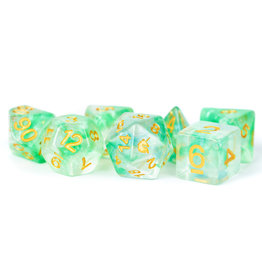 Metallic Dice Games 16mm Resin Poly Dice Set Unicorn: Icy Everglades