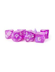 Metallic Dice Games 16mm Polyhedral Dice Set Stardust Purple