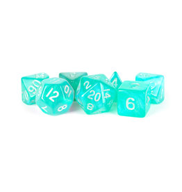 Metallic Dice Games 16mm Polyhedral Dice Set Stardust Turquoise