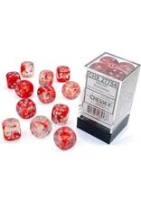 Chessex Nebula Red/silver 16mm d6 Dice Block