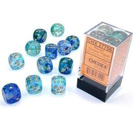 Chessex Nebula Oceanic/gold 16mm d6 Dice Block