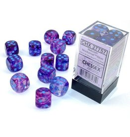 Chessex Nebula Nocturnal/blue 16mm d6 Dice Block