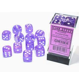 Chessex Borealis Purple/white 16mm d6 Dice Block