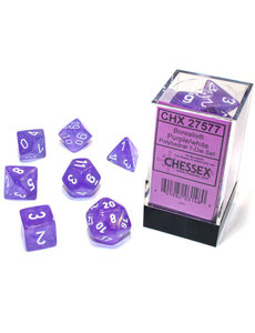 Chessex Borealis Purple/white Polyhedral 7-Die Set