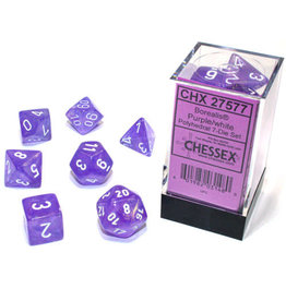 Chessex Borealis Purple/white Polyhedral 7-Die Set