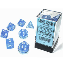 Chessex Borealis Sky Blue/white Polyhedral 7-Die Set