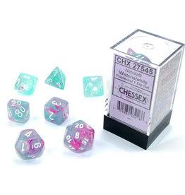 Chessex Nebula Wisteria/white Polyhedral 7-Die Set