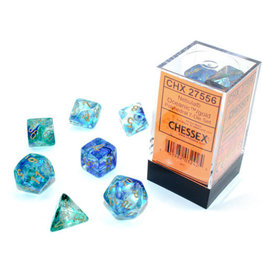 Chessex Nebula Oceanic/gold Polyhedral 7-Die Set