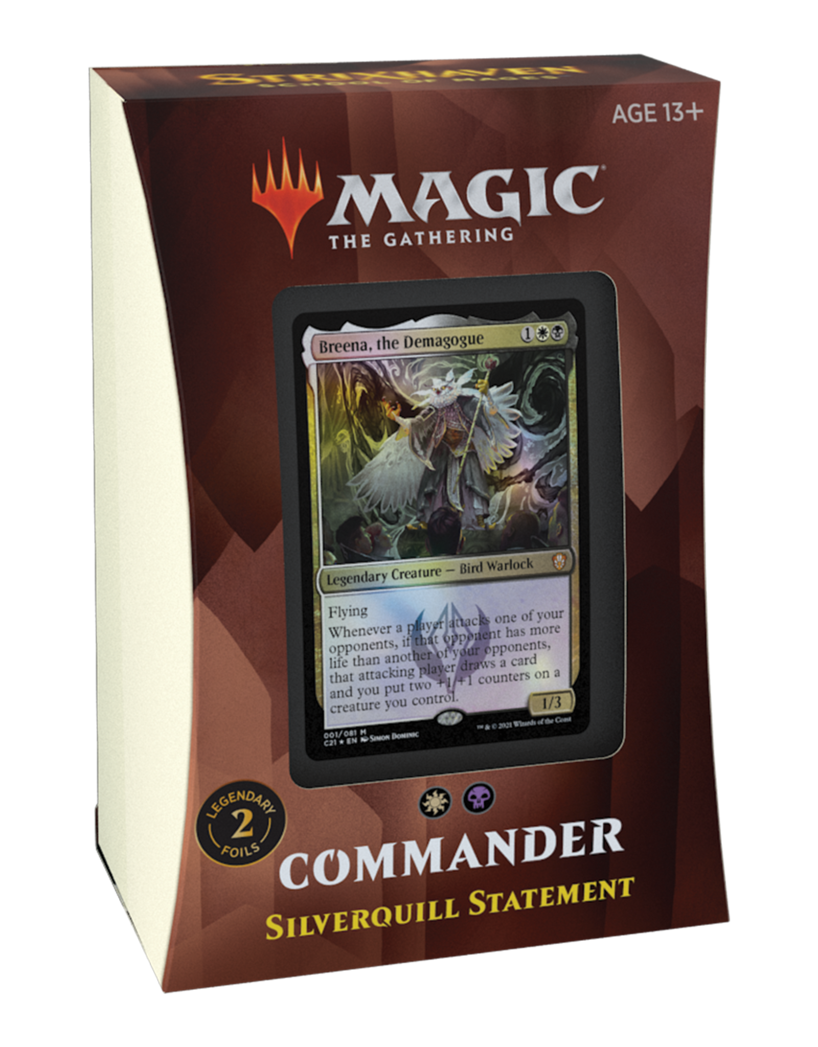 Magic: The Gathering Commander 2021 Deck - Strixhaven - Silverquill Statement