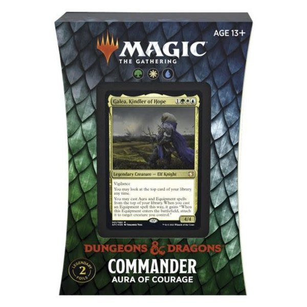 Magic: The Gathering Adventures in the Forgotten Realms - Aura of Courage Commander Deck
