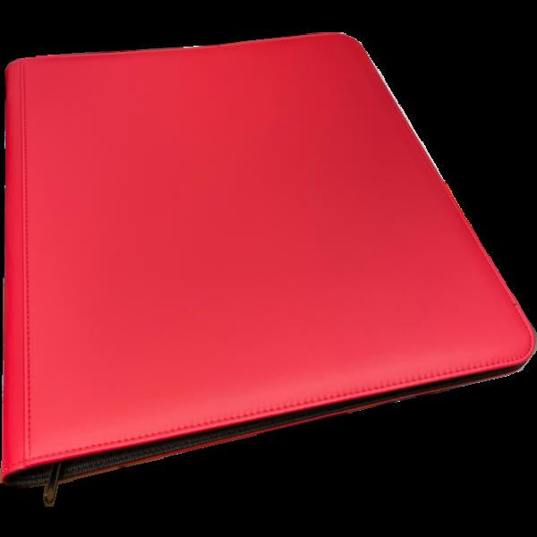 Generic 12 Pocket Zippered Binder Red