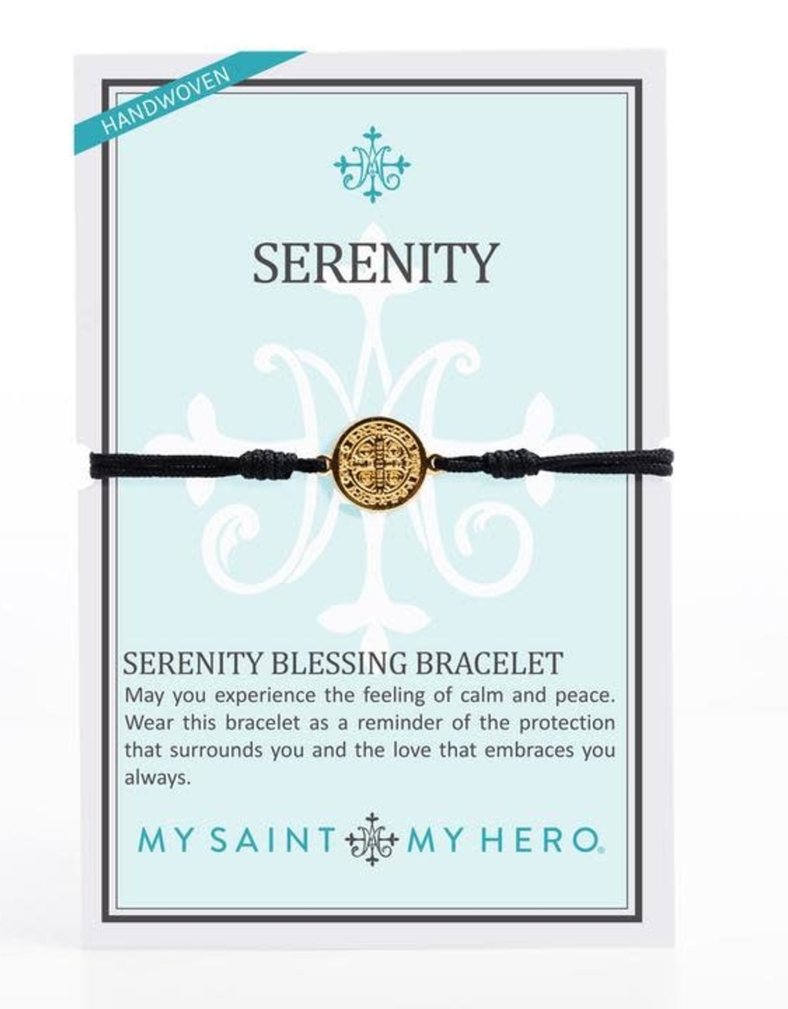 My Saint My Hero Serenity Bracelet Black/Gold