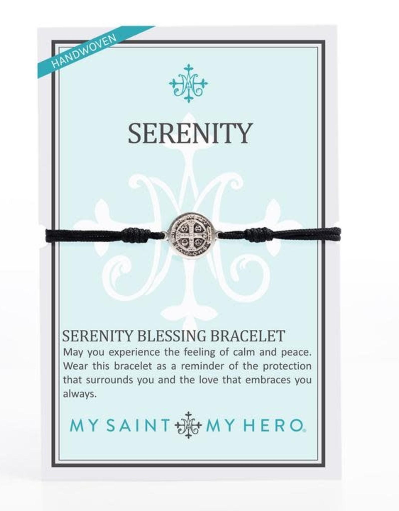 My Saint My Hero Serenity Bracelet Black/Silver