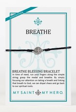 My Saint My Hero Breathe Bracelet Black
