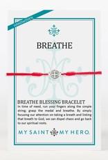 My Saint My Hero Breathe Bracelet Red