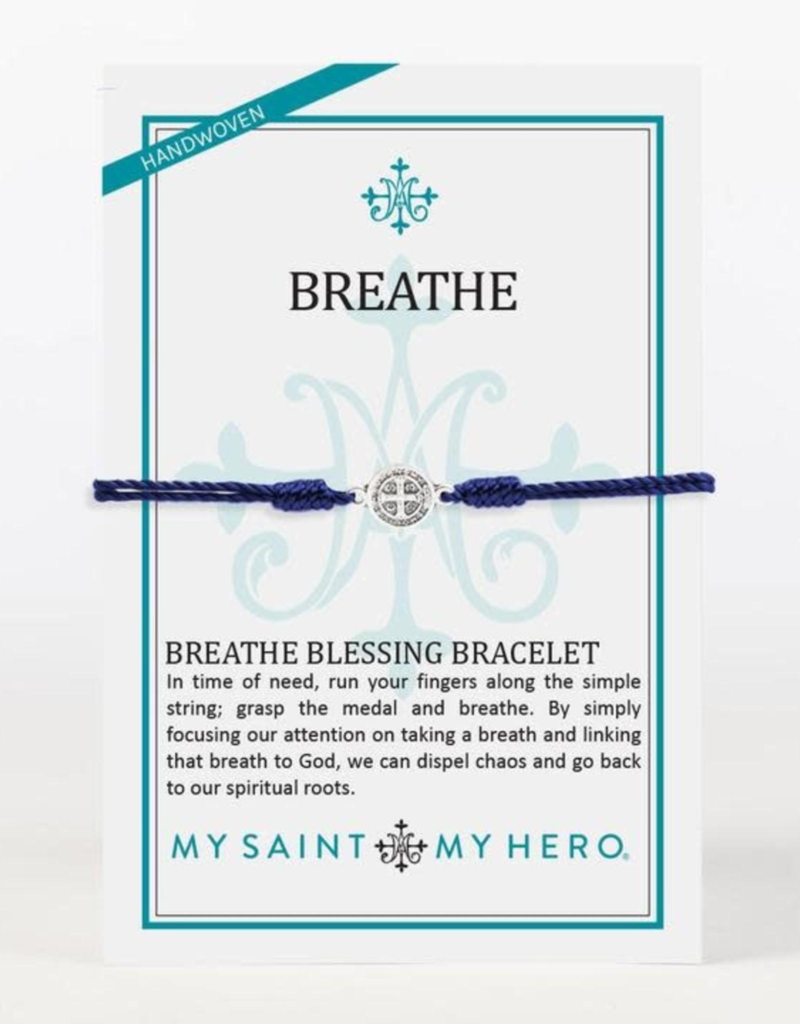 My Saint My Hero Breathe Bracelet Navy
