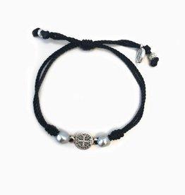 My Saint My Hero Joy Blessing Bracelet-Black Silver