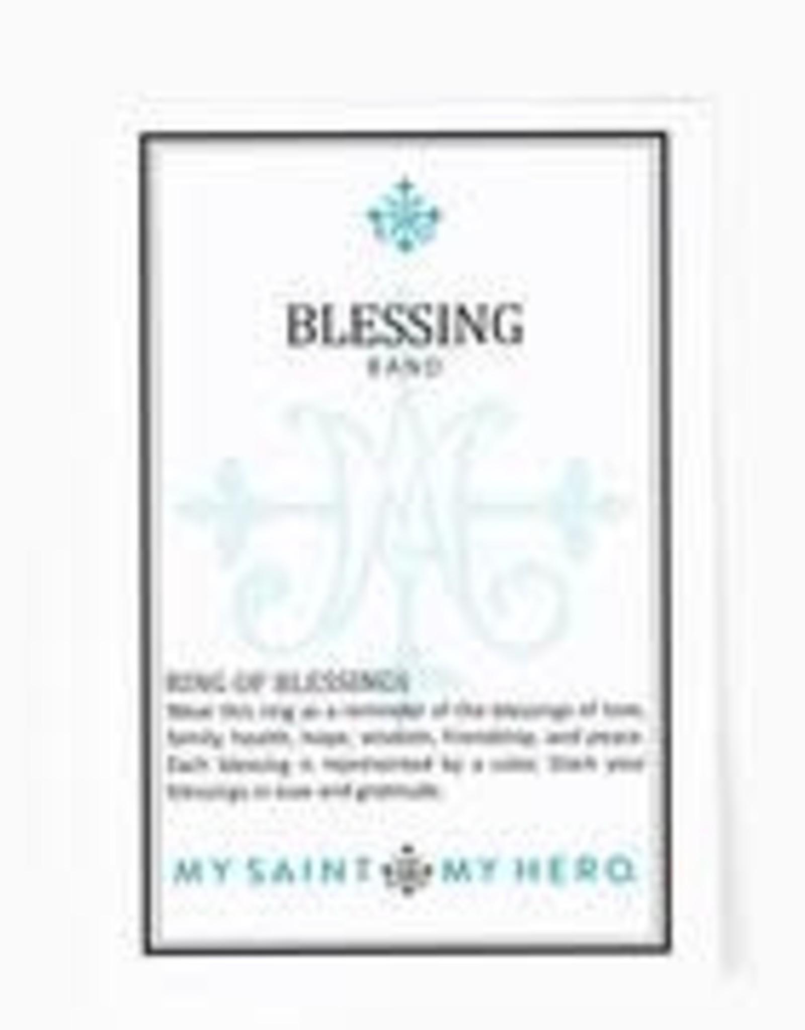 My Saint My Hero Blessing Ring Black Size 7