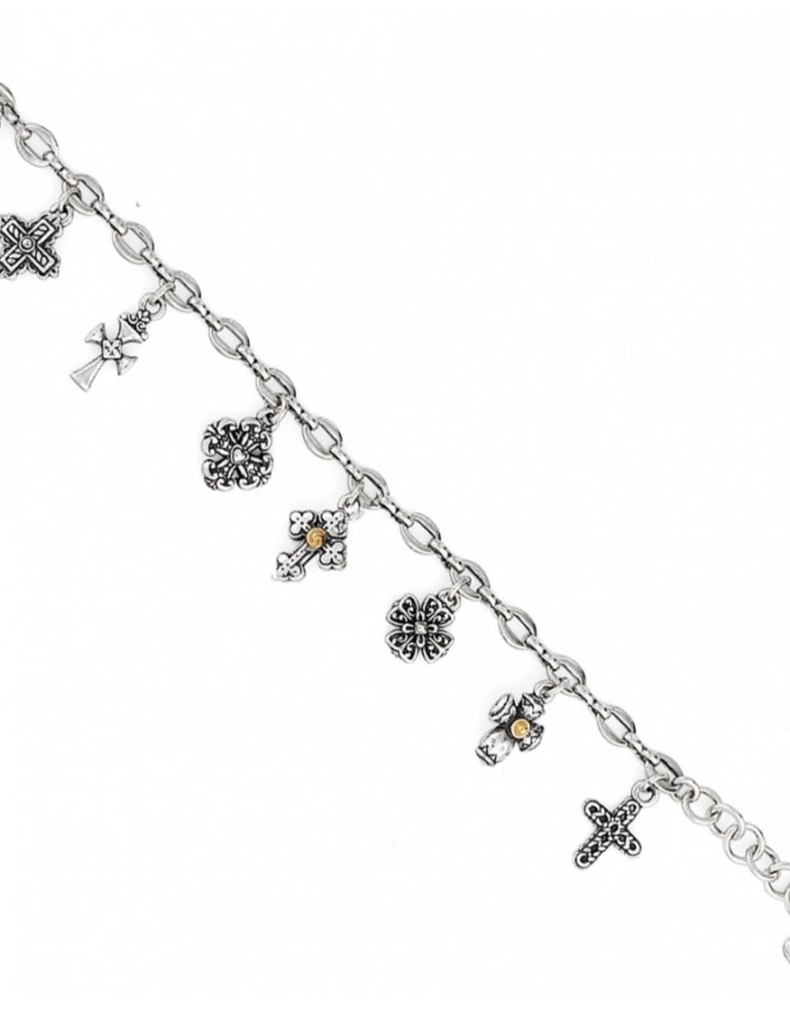 Brighton Silver Eternity Cross Charm Bracelet
