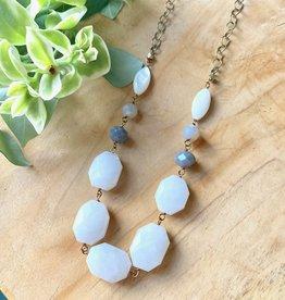 Harlow White Quartz Chunky Necklace