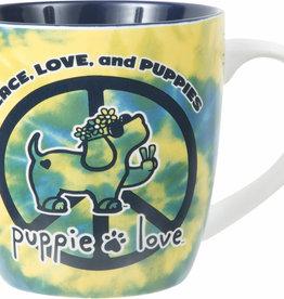 Pavilion Puppie Love Peace Mug