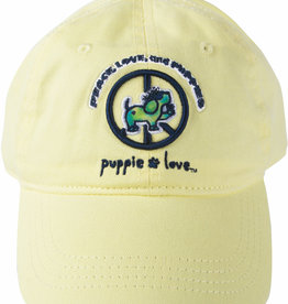 Pavilion Puppie Love Yellow Peace Puppy Hat