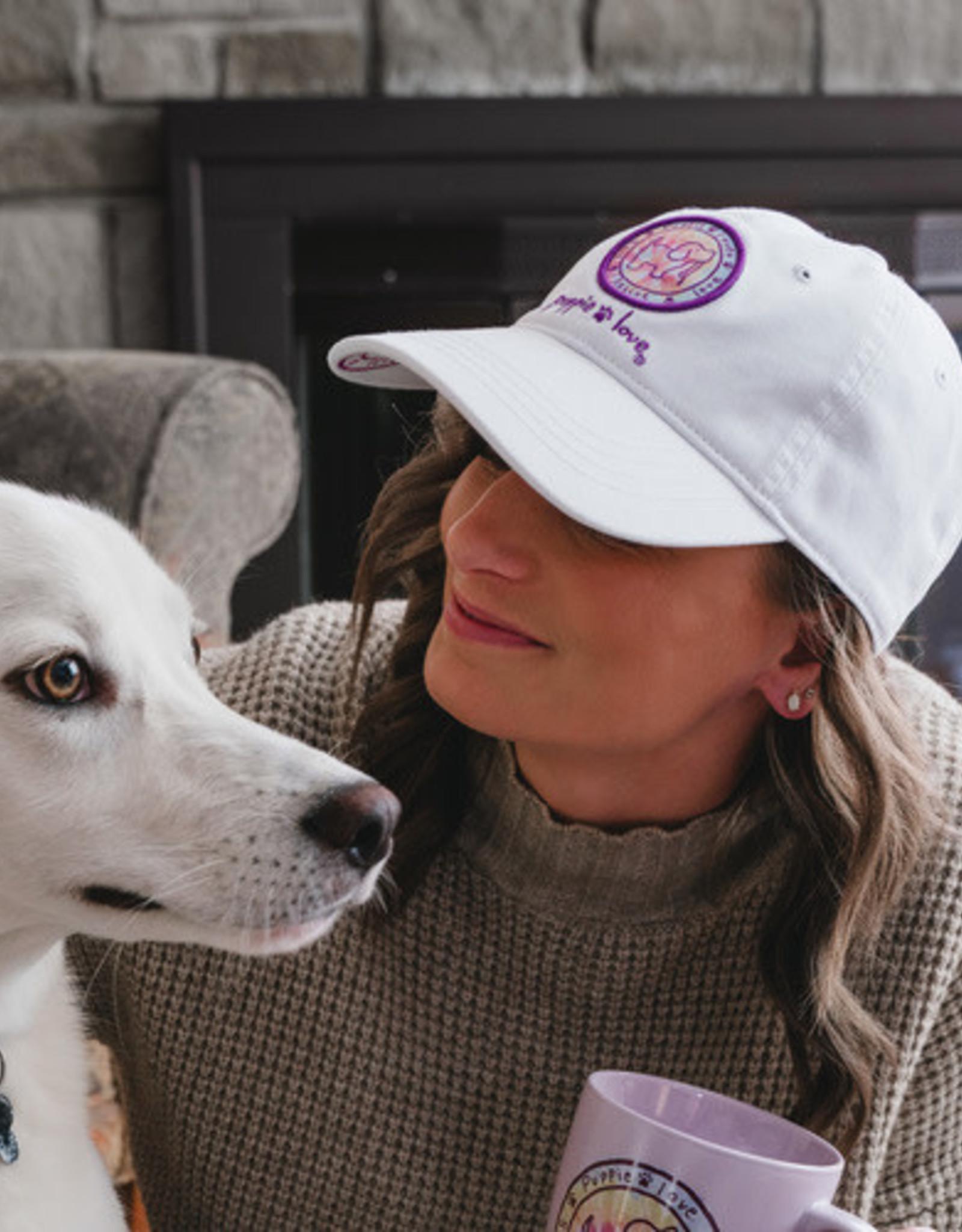 Pavilion Puppie Love White Pink Logo Hat