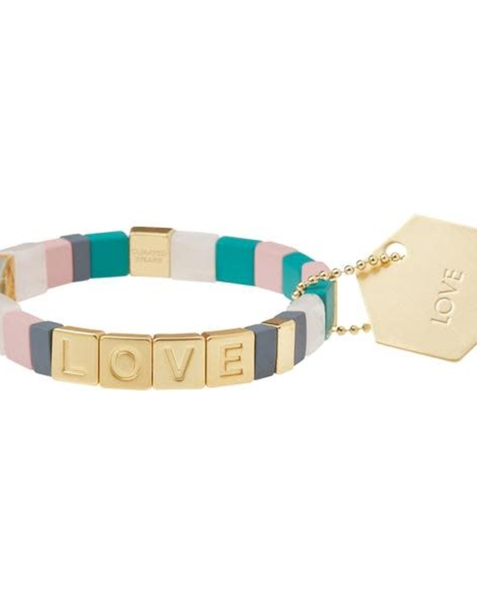 Scout Empower Love gold rose quartz labradorite