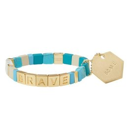 Scout Empower Brave gold turquoise howlite