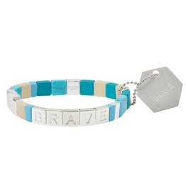 Scout Empower Brave silver turquoise howlite